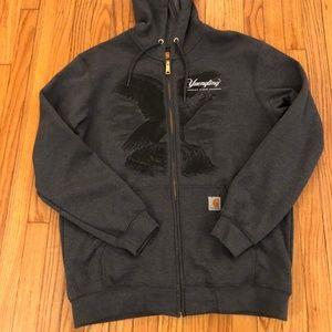 Yeungling Eagle Carhartt Zip Up Hooded Sweatshirt